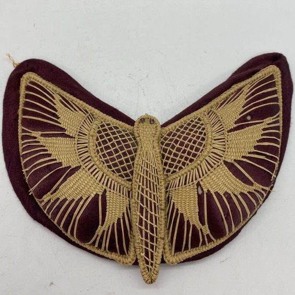 Vintage BoHo Woven Butterfly Pin Cushion